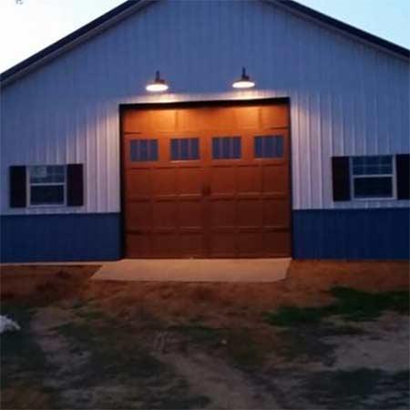 brown shop garage door